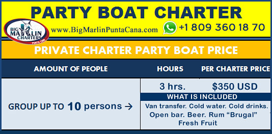 price party boat tours yacht Punta Cana