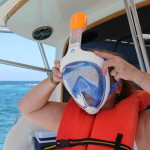 tribord reef snorkeling full face mask Punta Cana
