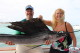 Nice couple Atlantic Sailfish fishinig tour Punta Cana
