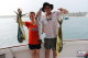 Couple wife and husband from Canada fishing in Punt Cana excursion