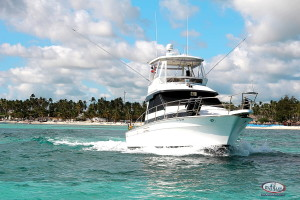 Nice boat for big game fishing Dominican Republic