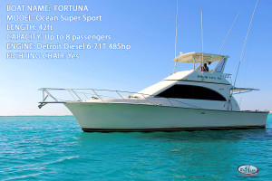 Fishing Boat Fortuna 42ft Fishing Charter in Punta Cana