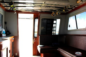 boat sherlock interior comfy offshore fishing