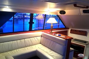 Punta Cana offshore fishing boat Riviera interior