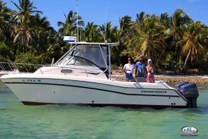 reef fishing boat close to beach Punta Cana low price