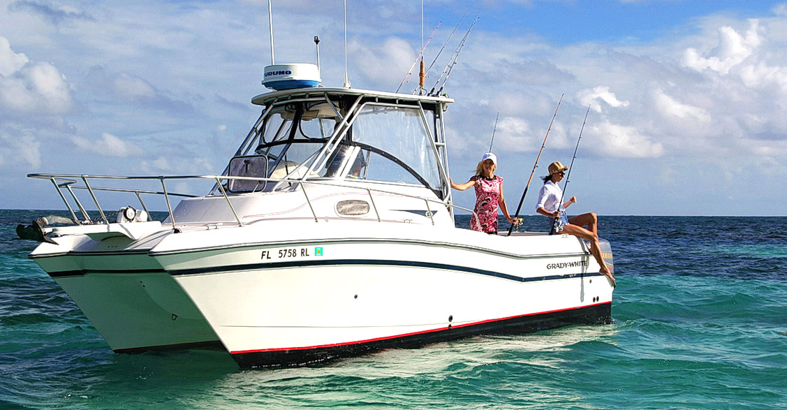 catamaran bottom fishing 26 ft Grady-White inshore Punta Cana