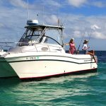catamaran bttom fishing insore reef Bavaro Punta Cana Dominican Republic