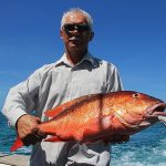 snapper and grupper bottom fishing Punta Cana unshore trip