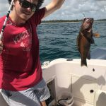 reef groupper for bottom fishing catch light rod from the small boat